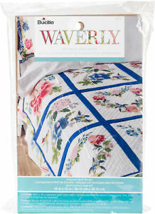 """Bucilla Stamped Embroidery Quilt Blocks 15""""X15"""" 6/Pkg-Waverly-Charmed, 47771"""