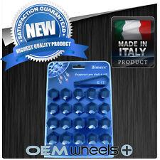 (20) NEW 17MM HEX BLACK CAP COVERS LUG BOLTS NUT MERCEDES C/E/S/SL WHEELS ITALY