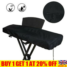 More details for 88 key piano keyboard dust cover for electronic keyboard and digital piano black