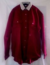 NOS Vtg. Tommy Hilfiger Men's Burgundy Corduroy Button Down L/S Shirt - Size L