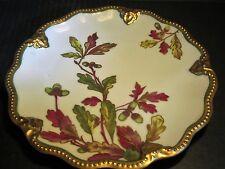 Stunning Antique Limoges Acorns On Fall Leaves Beaded Gold Border Edged Plate