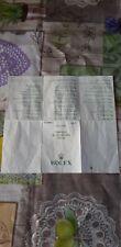 Rolex EXPLORER Paper Garanzia Rolex BEDETTI s.r.l Originale Anno 2002 Ref.16570