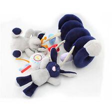 Multifunctional Baby Kids Car Pram Hanging Bell Bed Crib Ring Plush Toy Gift N7
