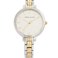Anne Klein Womens Silver Gold Two Tone Analogue Watch Bracelet