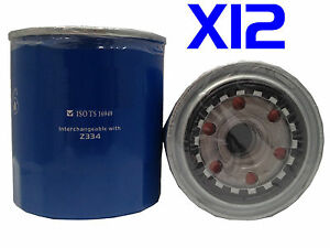 12 x Oil Filter fits Z334 for TOYOTA COASTER BUS 4.0L 2H DIESEL 1987-90