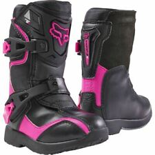 Fox Racing Kids Youth Comp 5K MX Dirtbike Boots Black Pink K10-K13 05014-285