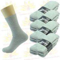 NEW Gray 3 Pairs Ankle/Quarter Crew Mens Sport Socks Cotton  Size 10-13 Long