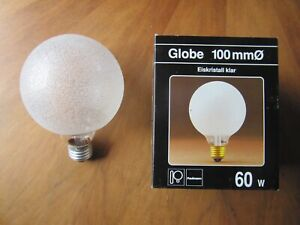 PAULMANN GLOBE G100 EISKRISTALL KLAR 131.60 WEIß E27 60W Glühbirne DIMMBAR G95