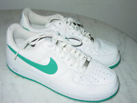 2013 Nike Air Force One White/Tropical Teal/Wolf Grey Leather Low Shoes! Size 12