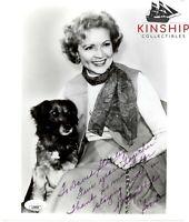 Betty White signed 8x10 Photo JSA COA Golden Girls Inscribed B709