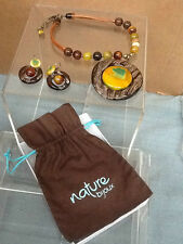 Handcrafted Neclace and Earrings from NATURE BIJOUX Natural Stones