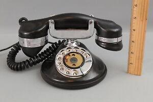 Antique Prewar 1920s Automatic Electric Company Rotary Dial Desk Monophone, NR