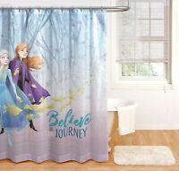 """Disney Frozen II -Shower Curtain 72"""" x 72"""" / Believe in the Journey  (# 0072)"""