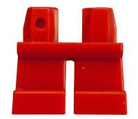Lego 10 Stück kurze rote Beine Hosen für Minifigur in rot City Basics 41879 Neu