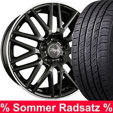 """18"""" ABE Z Design Sommerräder Schwarz 225/45 Reifen für Audi Q2 Quattro Typ GA"""