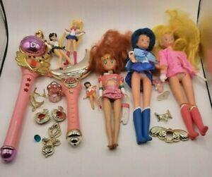 Lotto sailor moon accessori bambole scettro parti giochi preziosi bandai