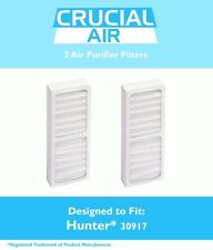 2 Hunter 30917 Air Purifier Filters Fit Model 30027 & 30028 NEW