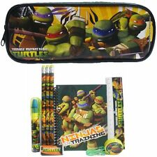(10ct) Teenage Mutant Ninja Turtles Boys Stationary Set + Pencil Pouch Combo