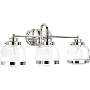 Progress Lighting Judson Collection 3-Light Polished Nickel Bath Light
