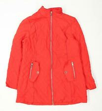 Marks & Spencer Womens Size 14 Textured Red Quilted Coat