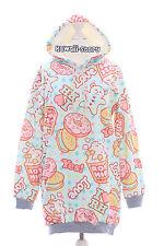 T-521 Popcorn Donut Candy Sweet Pastel Goth Lolita Pullover Sweatshirt Harajuku