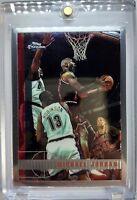 1997-98 TOPPS CHROME Michael Jordan #123, Premium Base MJ, Chicago Bulls HOF