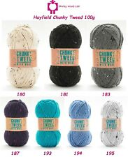 Hayfield Chunky Tweed 100g - Complete Colour Range - RRP £3.75 OUR PRICE £3.45