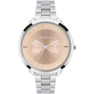 Womens Wristwatch FURLA METROPOLIS R4253102505 Stainless Steel Pink NEW