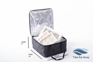 Cool Bag Insulated Cake Delivery Bags Chilled Desert Frozen Food Cold Picnic C61