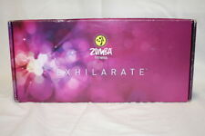 New Zumba Fitness Exhilarate 4 DVDS and Toning Sticks MINT