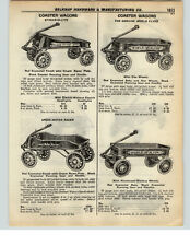 1937 PAPER AD Steak-O-Lite World Flyer Speed Meter Racer Coater Wagon Red Flash