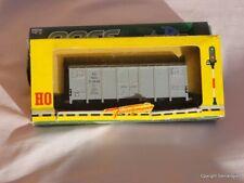 FLEISCHMANN # 1479   wagon couvert  type  Hcg gris argent    FS   BO