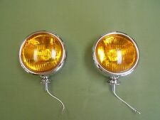 vintage style chrome 5 inch 6 volt fog lights light ratrod car truck foglight 6v