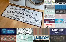 "Soft Woven Grip Back Woven Printed Rug, Laundry Room Mat Runner - 24"" x 56"""