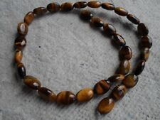 Strand Of Tigers Eye Oval Beads