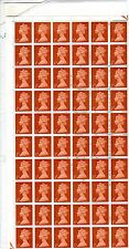 1967 - ½d - Machine Definitive - Full Sheet of 240 Stamps VERY REAR (ref r001)