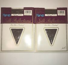 2 Hanes Silk Reflections 717 Pantyhose Control Top Sandalfoot Soft Amber Size AB