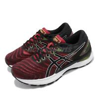 Asics Gel-Nimbus 22 Red Black Mens Road Running Shoes FlyteFoam 1011A680-601