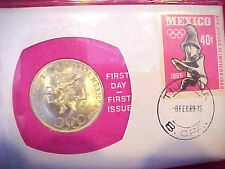 1968 #79 99 COMPANY FIRST DAY FIRST ISSUE SILVER MEXICO 25 PESO SUMMER OLYMPICS