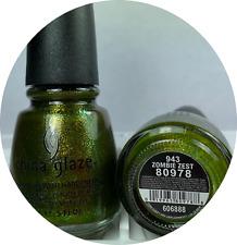 China Glaze Nail Polish * Zombie Zest 943 Swampy Green Halloween Lacquer