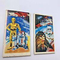 Vintage 1978 Super Rare Star Wars Menko Trading Cards Japan  C-3PO  R2-D2