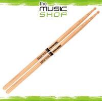 New Set of Promark Hickory 718 'Acid Jazz' Drumsticks - Barrel Wood Tips TX718W