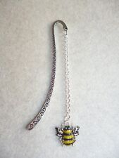 Handmade Enamel Yellow & Black Honey Bee Bookmark
