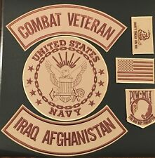US NAVY SEAL COMBAT VET IRAQ AFGHAN MILITARY FLAG MOTORCYCLE LOT OF 6 PATCHES