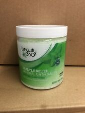 CVS MUSCLE RELIEF MINERAL BATH SALTS 25oz EUCALYPTUS PEPPERMINT FREE SHIPPING US