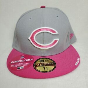 Chicago Bears Football Pink Breast Cancer Awareness Hat Cap New Era Size 7 5/8