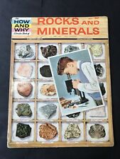 Vintage The HOW AND WHY Wonder Book of ROCKS AND MINERALS 1960 Edition 5004