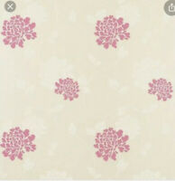 LAURA ASHLEY Isodore cerise pink wallpaper floral Batch 067732-A