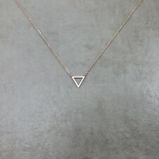 Triangle ROSE GOLD Necklace Gift Box Shape Geometric Polygon Point Geometry