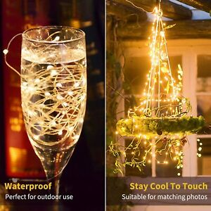 Fairy Lights Battery Powered Led String Copper Wire Waterproof Party Wedding